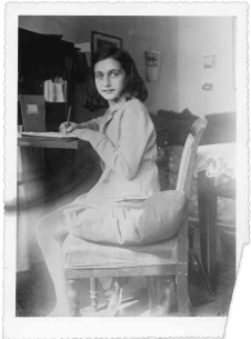 Anne Frank writing 1941
