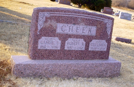 Three Cheek gravestone